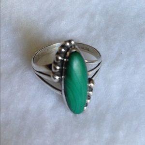 Sterling Genuine Stone Handmade Ring